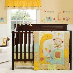 Kidsline Graco Jungle Friends 6-Piece Crib Bedding Set Includes Bumper+++ *New*