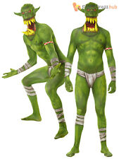 Teen Mens Morphsuit Monster Jaw Dropper Costume Halloween Fancy Dress Boys