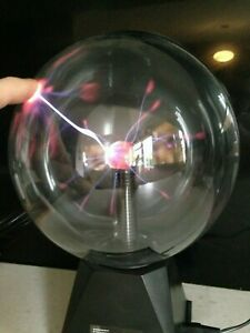 """8"""" TOUCH ACTIVATED PLASMA STATIC MAGIC GLOBE LIGHT BALL SPHERE GLOWING LAMP"""