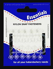 12 CLEAR NYLON SNAP FASTENERS/PRESS STUDS-6MM -WHITECROFT ESSENTIALS 745551