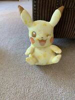 "2016 TOMY Pikachu Winking 10"" Plush Pokemon 20th Anniversary Stuffed Figure EUC"