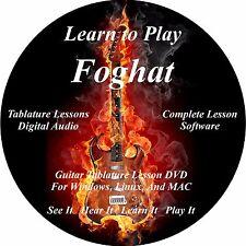 Foghat Guitar TAB Tablature Lesson CD 111 Songs! MEGA BONUS!