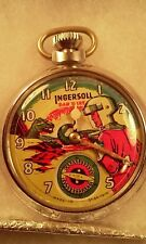 Dan Dare Pocket Watch -Vintage Ingersoll ~With Moving Arm Looks Great !