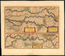 Antique Map-THE NETHERLANDS-RHINE-WAAL-MAAS-RIVERS-GERMANY-Hondius-1630