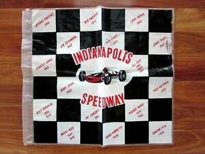 1969 Indianapolis 500 Motor Speedway Indy Car Illustrated Plastic Checkered Flag
