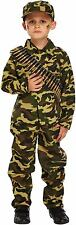 Boys Army Soldier Fancy Dress Dressing Up Outfit World Book Day Costume Age 4-9