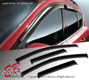 4pc JDM Visor Rain Guard For Dodge Dakota 2005-2011 05-11 SLT TRX4 Quad Cab Only