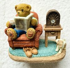 Cherished Teddie Dad~Chair w/paper~Cherish Love 104889 10th Anniv 2001 Nrfb Rare