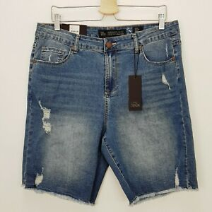 [ CITY CHIC ] Womens Harley Distressed Denim Shorts NEW | Size AU 16 or US 12