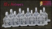 10x Spartan Hoplite Helmets compatible w/ Warhammer 40k space marine bits custom