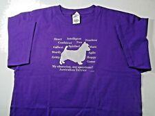 Australian Terrier Dog Obsession? T-shirt Sale L Purpl 00004000 e , Med Dark Red or Navy