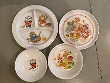 New ListingVintage 1980s Bowls & Plates, Hallmark, Strawberry Shortcake, Great condition