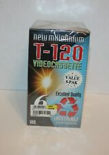 Video Cassettes Earth Friendly Recycled T-120 New Millenium  5 Pack