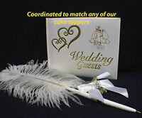 "COORDINATED  ""JUST""  Guest Book Pen Holder Match any of OUR Wedding Cake Toppers"