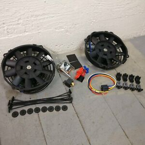 1935 - 1941 Ford 8 DUAL FANS Air Cooling Fan Deluxe Cooler 12v slim