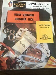 1968  VT Virginia Tech vs West Virginia Football Game Program