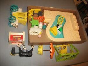 1970s #121 batch LOT Vintage FISHER PRICE LITTLE PEOPLE parts