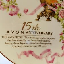 Avon Roses Collector Plate 15th Anniversary