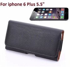 iPhone 6 PLUS 5.5  Leather Case w/ Belt Clip Pouch Holster Black NEW  For Apple