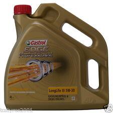 4 litre bottle oil - Castrol EDGE Professional Titanium FST Longlife 3 5 W 30
