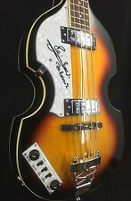 Pete Best Signed Hofner Style Left Bass Guitar. The Beatles JSA/COA Autographed
