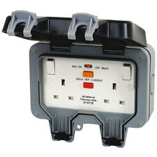 BG 13Amp Outdoor Socket IP66 Weatherproof Double Switched RCD Protected WP22RCD