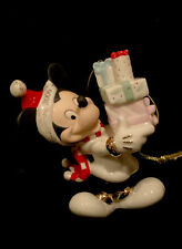 Lenox Mickey Mouse carrying packages. Christmas Ornament 2006