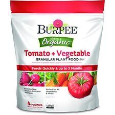 Burpee 4 Lb. 3-6-4 Organic Tomato & Vegetable Dry Plant Food