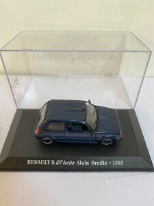 Véhicule Miniature Renault 5 GT Turbo Alain Oreille 1989 bleu 1/43