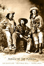 SCOUTS OF THE PRAIRIE 1872 Buffalo Bill Texas Jack Ned Buntlne Old West Card CDV