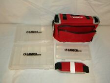 "Fishing Tackle Box Gander Mountain Soft Side 3 Boxes Carry Strap 11""x 8"" New"