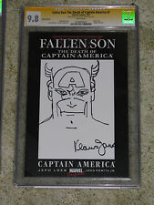 Fallen Son:Death of Captain America 3 CGC 9.8 SS Klaus Janson original sketch!