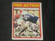 BUBBA SMITH 1972 TOPPS PRO ACTION SIGNED AUTO CARD #127