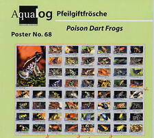 AQUALOG Poster Poison Dart/Arrow Frogs , LAMINATED