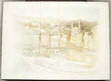 R DE PREMARE (Artiste Côté) Superbe Litho Voilier au Port Tirage à 120 ex 76x54