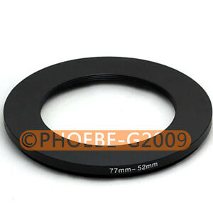 77mm-52mm 77-52 77 to 52 Step Down Ring Filter Adapter