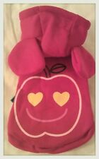 *HOLIDAY SALE*RED BIG EAR SMILE APPLE FACE HOODIE DOG CLOTH DOG COSTUMES LARGE