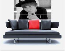 "Justin Bieber masiva 59 ""x 31"" pulgadas sin bordes de azulejo mosaico Pared Poster Beiber"