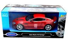 WELLY ASTON MARTIN V12 VANTAGE RED 1/24 Diecast Car