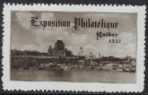 Canada Cinderella: 1937 Exposition Philatelique, Quebec, cc1035  - dw19a