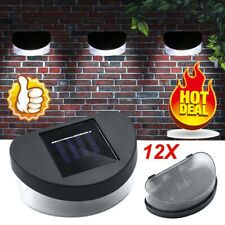 4/8/12x SOLAR POWER LED GARDEN FENCE WALL LIGHTS PATIO OUTDOOR SECURITY LAMPS