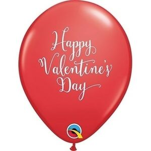 "Happy Valentines Day Script Latex Balloons Party Decor Love Bouquet - 10p - 11"""