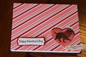 Stampin Up Happy Valentines Day From My Heart Dog bow tie