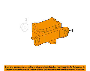 MERCEDES OEM ML350 ABS Anti-lock Brakes-Yaw Rate Sensor 0065422618