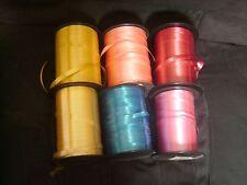 Lot de 6 grosses bobines professionnelles de Bolduc 6 couleurs différentes
