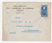 STORIA POSTALE 1933 REGNO L. 1,25 ISOLATO SU BUSTA DA REGGIO CALABRIA A/6807