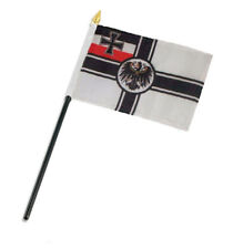 "German Germany Imperial World War 1 WWI Flag 4""x6"" Desk Staff Stick"