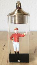 """Vtg """"21"""" Club New York Restaurant Lucite Embedded Jockey Figurine Evans Lighter"""