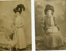 VINTAGE POSTCARD LOT UNPOSTED 1907-1915 PERIOD BEAUTIFULLY DRESSED WOMEN