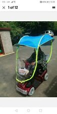 TDisability Aid Scooter Rain and Sun Cover Universal Fitting, White and Green